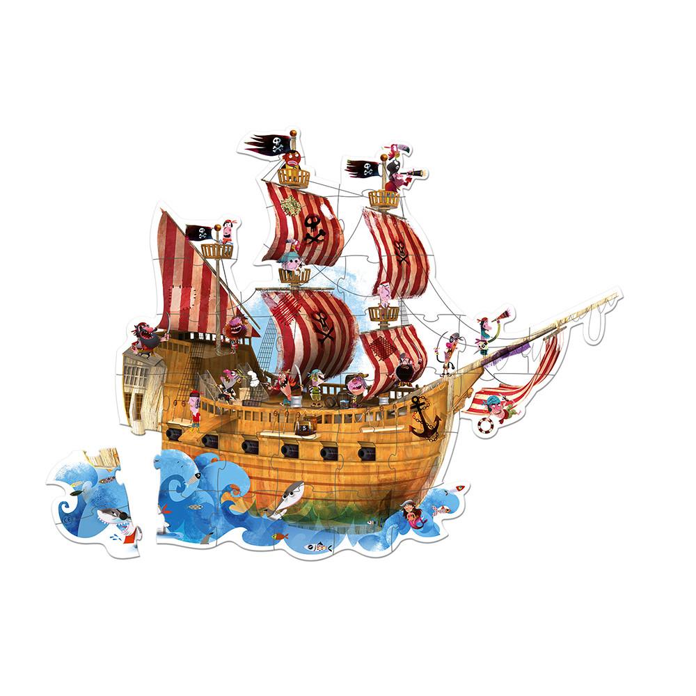 Valisette Puzzle Géant Pirates 39 pcs