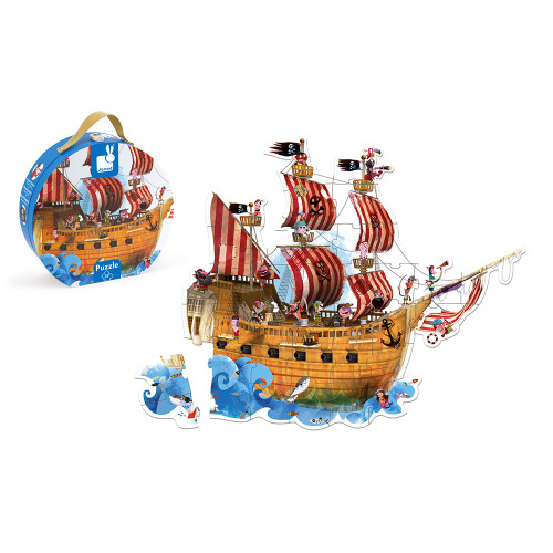 Valisette Puzzle Géant Pirates 39 pcs