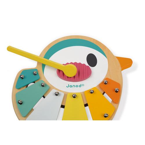 Xylo Oiseau Pure en bois, xylophone, éveil sonore musical bébé, motricité, musique, pour enfant à partir de 12 mois JANOD