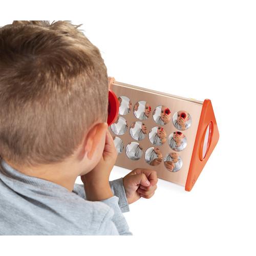 Les Miroirs - Essentiel en bois, jouet éveil bébé, motricité, pour enfant à partir de 18 mois JANOD