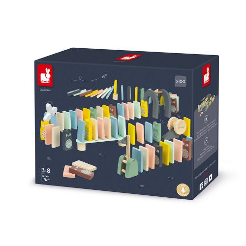 Dominos sweet cocoon en bois, design, 100 pièces, motricité, dextérité, pour enfant à partir de 3 ans JANOD