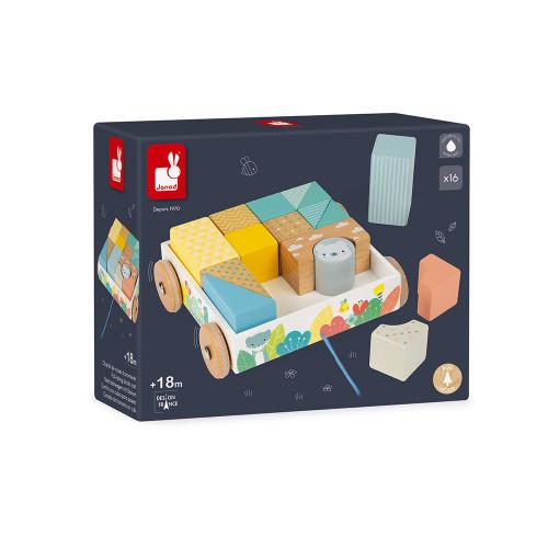 Chariot de Cubes à Promener Pure (bois)