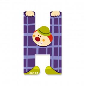 Lettre Clown (bois) - H