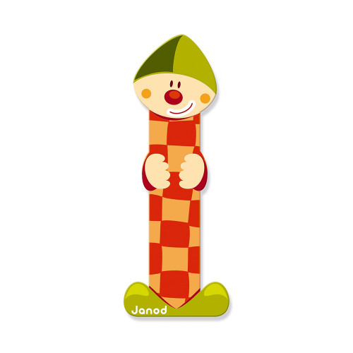 Lettre Clown (bois) - I