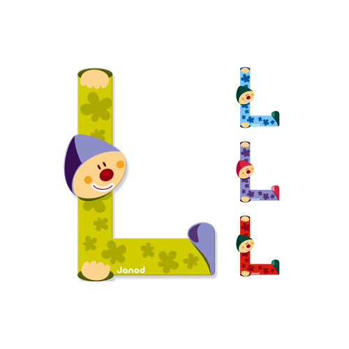 Lettre Clown (bois) - L