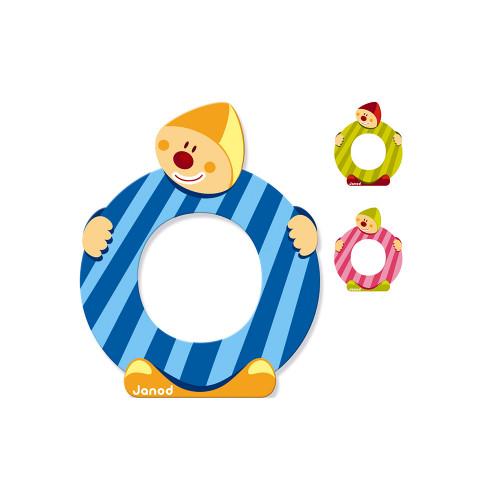 Lettre Clown (bois) - O