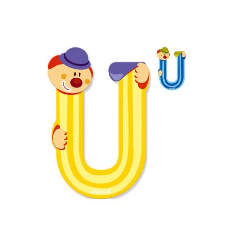 Lettre Clown (bois) - U