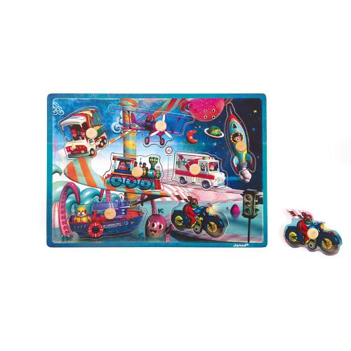 Puzzle Musical Space Motion 7 pcs (bois)