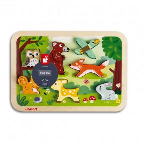 Chunky Puzzle Bosque 7 piezas (madera)