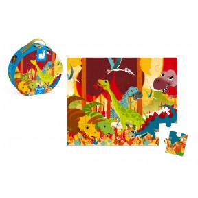 Valisette Puzzle Dinosaures 24 pcs