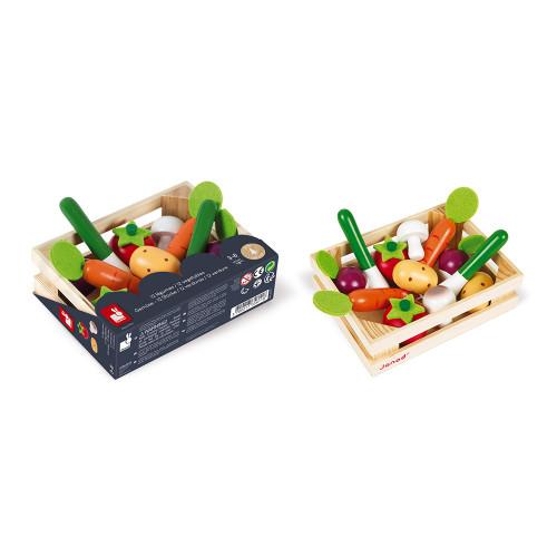 Cagette de 12 légumes (bois)