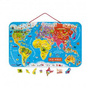 Puzle Magnético Atlas Mundial en Alemán 92 piezas (madera)