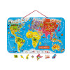 Magnetic World Map Puzzle German Version 92 pieces (wood)