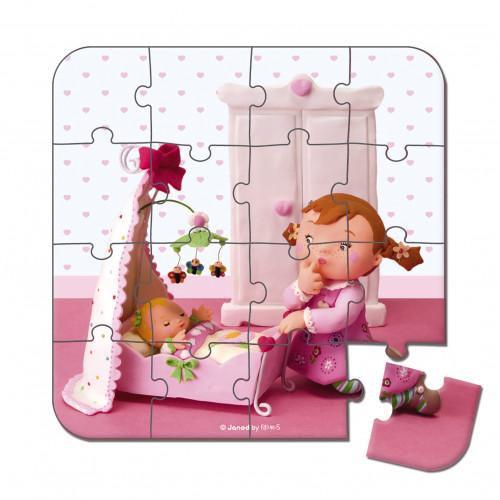 Valisette 4 puzzles Lilou Poupée