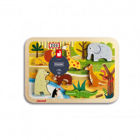 Chunky Puzzle Zoo 7 Teile (Holz)