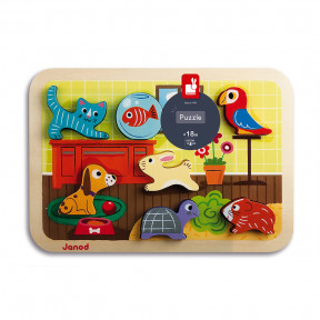 Chunky Puzzle Animo 7 pieces (wood)