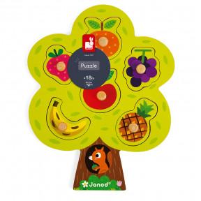 Knopfpuzzle Früchtebaum 6 Teile (Holz)