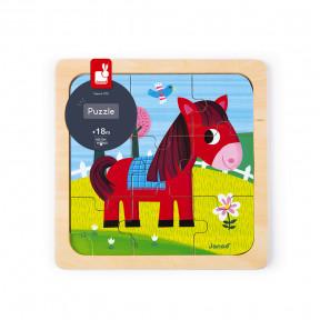 Puzzle Klein Pferd Tornado 9 Teile (Holz)