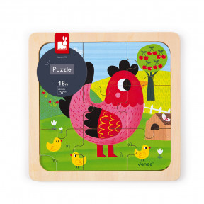 Violette Chicken Puzzle 9 pieces (wood)