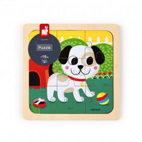 Puzzle Klein Hund Titus 9 Teile (Holz)