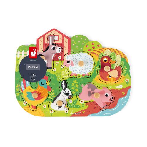 Puzzle Happy Farm 6 pcs (bois)