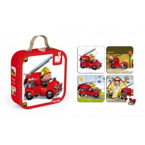 Valisette 4 puzzles Camion Léon