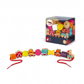 Stringable Circus-Themed Beads (wood)