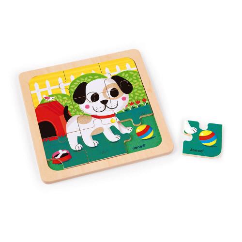 Coffret 3 Puzzles 9 pcs (bois)
