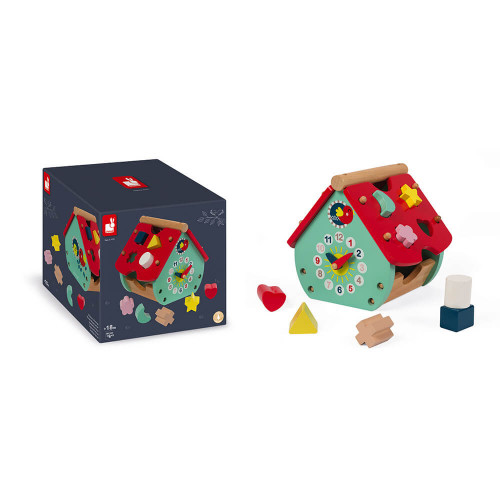 Maison à formes Baby Forest en bois, éveil motricité bébé, encastrement, pour enfant à partir de 18 mois JANOD