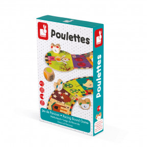 Racing Board Game the Chicken Game (Poulettes)
