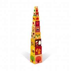 4 Seasons Square Stacking Pyramid