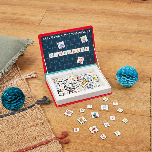Magnéti'book alphabet français magnétique en carton 142 magnets lettres pour enfant à partir de 3 ans