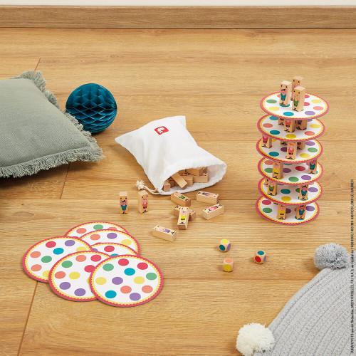 Jeu d'adresse - Acrobat', en bois et carton, jeu de société, équilibre, cirque, pour enfant à partir de 5 ans JANOD