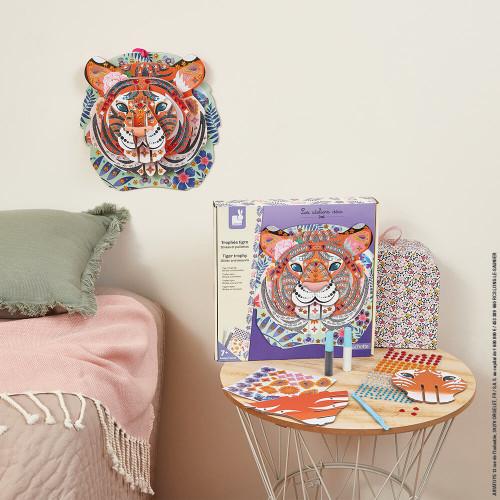 Kit Créatif - Strass et Paillettes Trophée Tigre