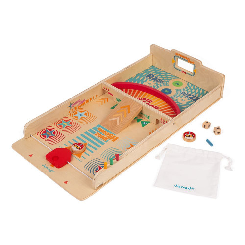 Jeu de palets en bois FSC, jeu d'adresse, famille, passe-trappe, pour enfant à partir de 6 ans JANOD