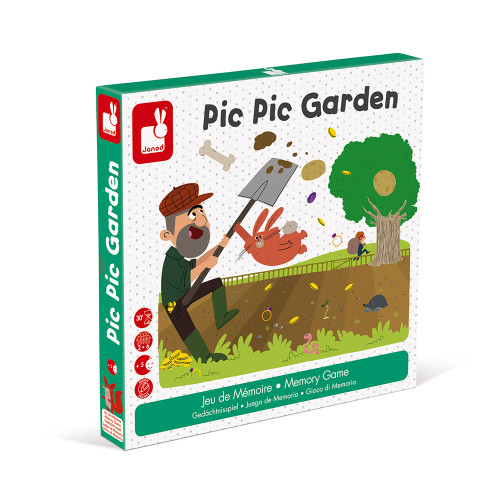 Jeu de Mémoire - Pic Pic Garden (bois et carton)