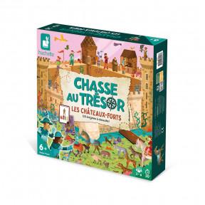 Schatzsuche Ritter und Burgen - Nur auf Französisch