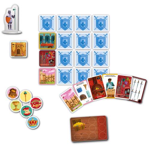 Jeu chasse au trésor les châteaux-forts, jeu de société, éducatif, histoire aventure et quête, pour enfant à partir de 6 ans JAN