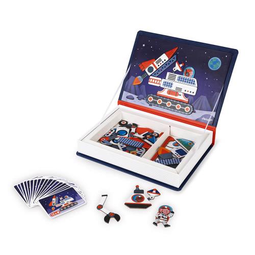 Magnéti'book Cosmos, 52 magnets, magnétique, aimants, espace, planètes, éveil pour enfant dès 3 ans JANOD