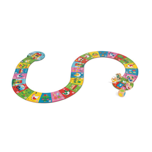 Jeu Chicken Race, jeu de société, famille, en bois et carton, jeu de parcours, pour enfant dès 3 ans JANOD