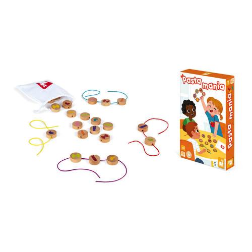 Jeu Pasta Mania, jeu de société, famille, pâtes, jeu de mémoire et association pour enfant dès 4 ans JANOD