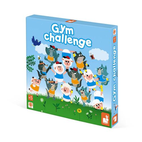 Jeu Gym Challenge, jeu de société, famille, stratégie motricité, pour enfant dès 5 ans JANOD