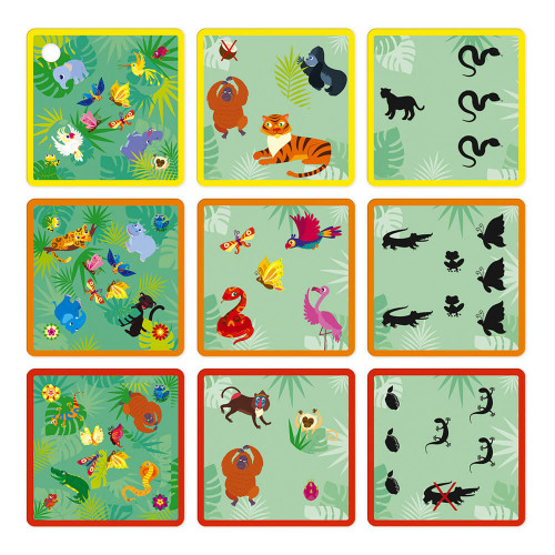 Jeu Jungle Pictures, jeu de société, famille, jeu de rapidité et stratégie en carton FSC pour enfant dès 5 ans JANOD