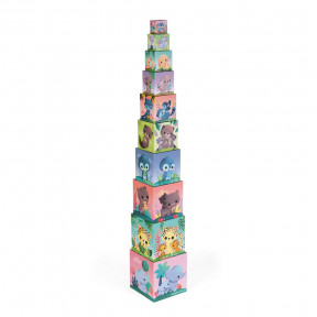 Pirámide cuadrada de animales adorables