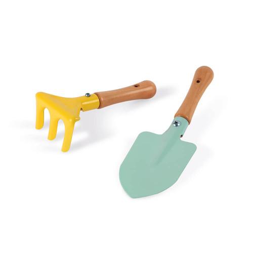 Set d'outils de jardinage en bois et métal, plein air, imitation jardin, pour enfant à partir de 3 ans JANOD
