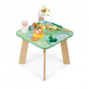 Mesa de actividades de madera Bonita pradera