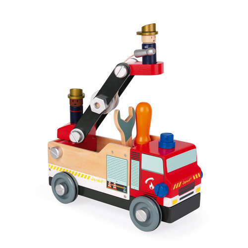 Camion de pompiers Brico'kids en bois, bricolage, véhicule, pour enfant à partir de 3 ans JANOD