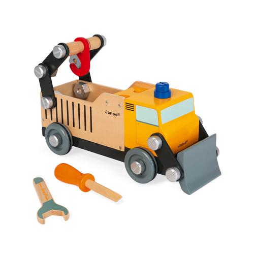 Camion de chantier Brico'kids en bois, bricolage, véhicule, pour enfant à partir de 3 ans JANOD