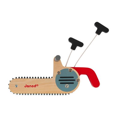 Tronçonneuse en bois FSC Brico'kids, imitation outils de bricolage, manipulation pour enfant à partir de 3 ans JANOD