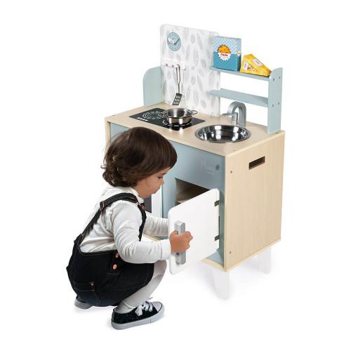 Cuisine Plume en bois, imitation dinette marchande, 5 accessoires, pour enfant dès 3 ans JANOD